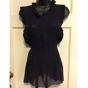 Marc by Marc Jacobs Navy Blue Silk Blouse